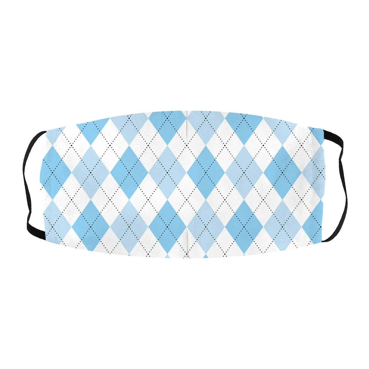 ASTI Face Mask Golf Plaid Light Blue