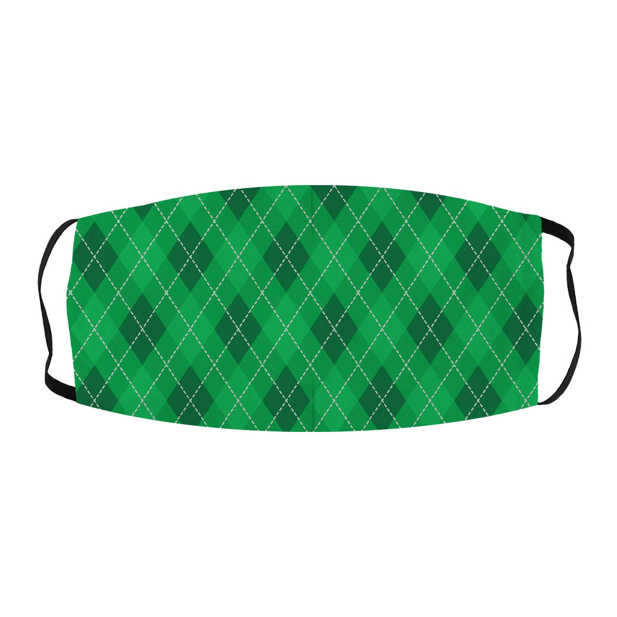 ASTI Face Mask Golf Plaid Green