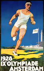 Poster old sporting event