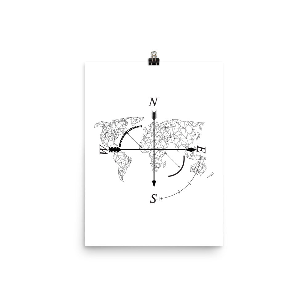 Geometric map poster