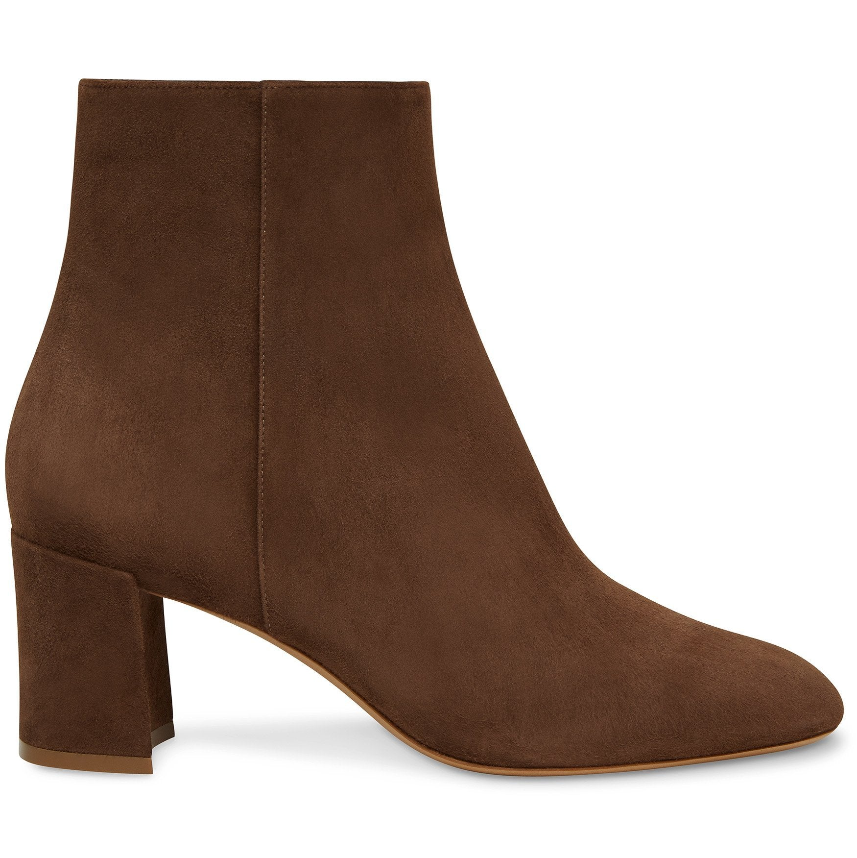 Mansur Gavriel Suede 65Mm Ankle Boot In Chocolate