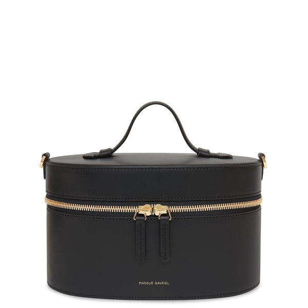 Vegetable Tanned Train Case Crossbody - Black