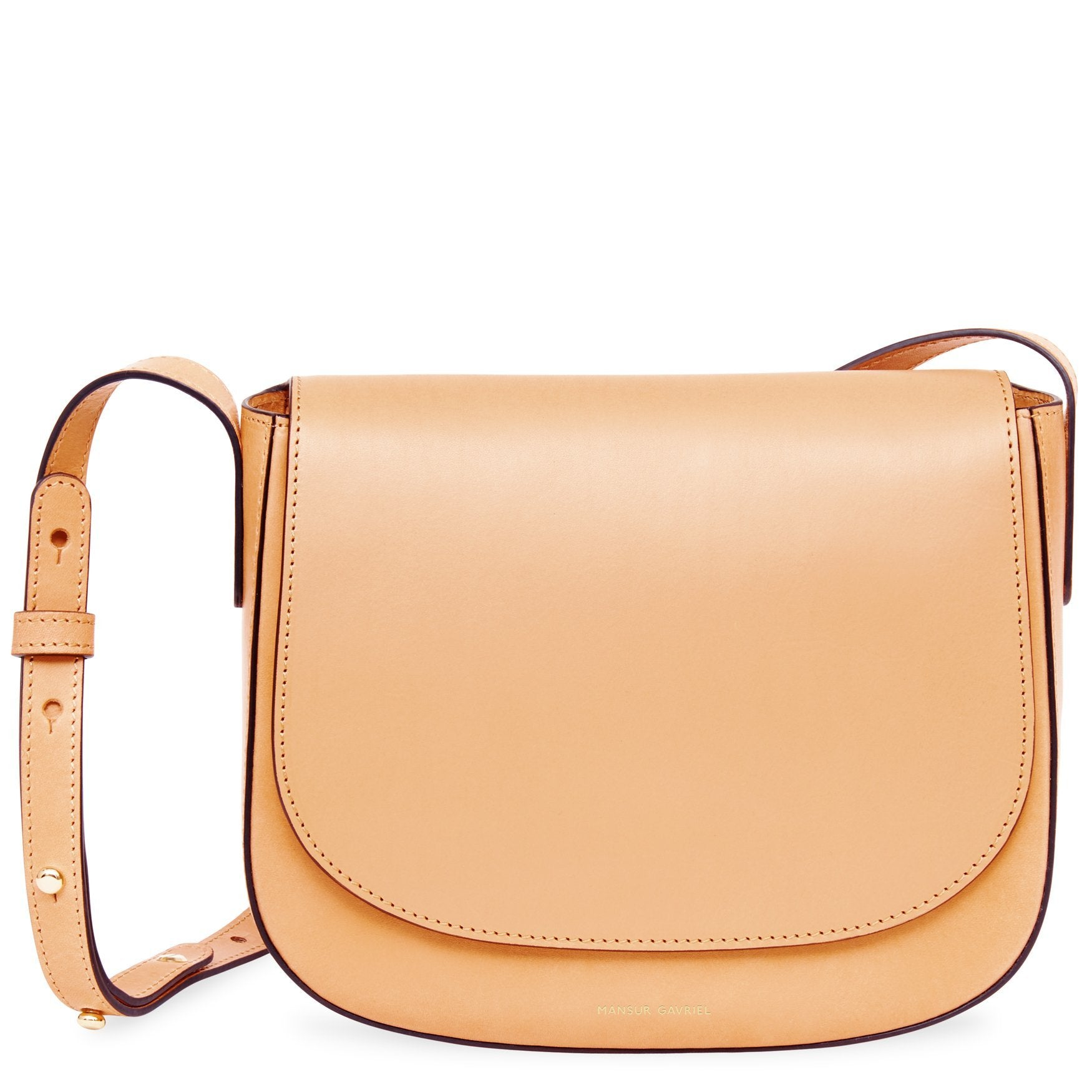 Mansur Gavriel Vegetable Tanned With Edge Paint Crossbody In Cammello