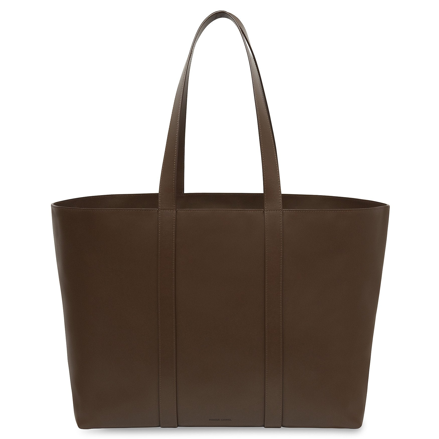 Mansur Gavriel Calf East West Tote In Chocolate