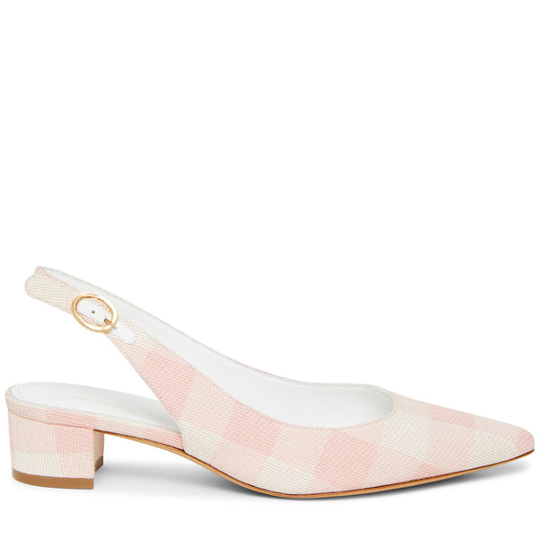 f916429ca MANSUR GAVRIEL - Checker Slingback Heel - Coral - IT 38.5