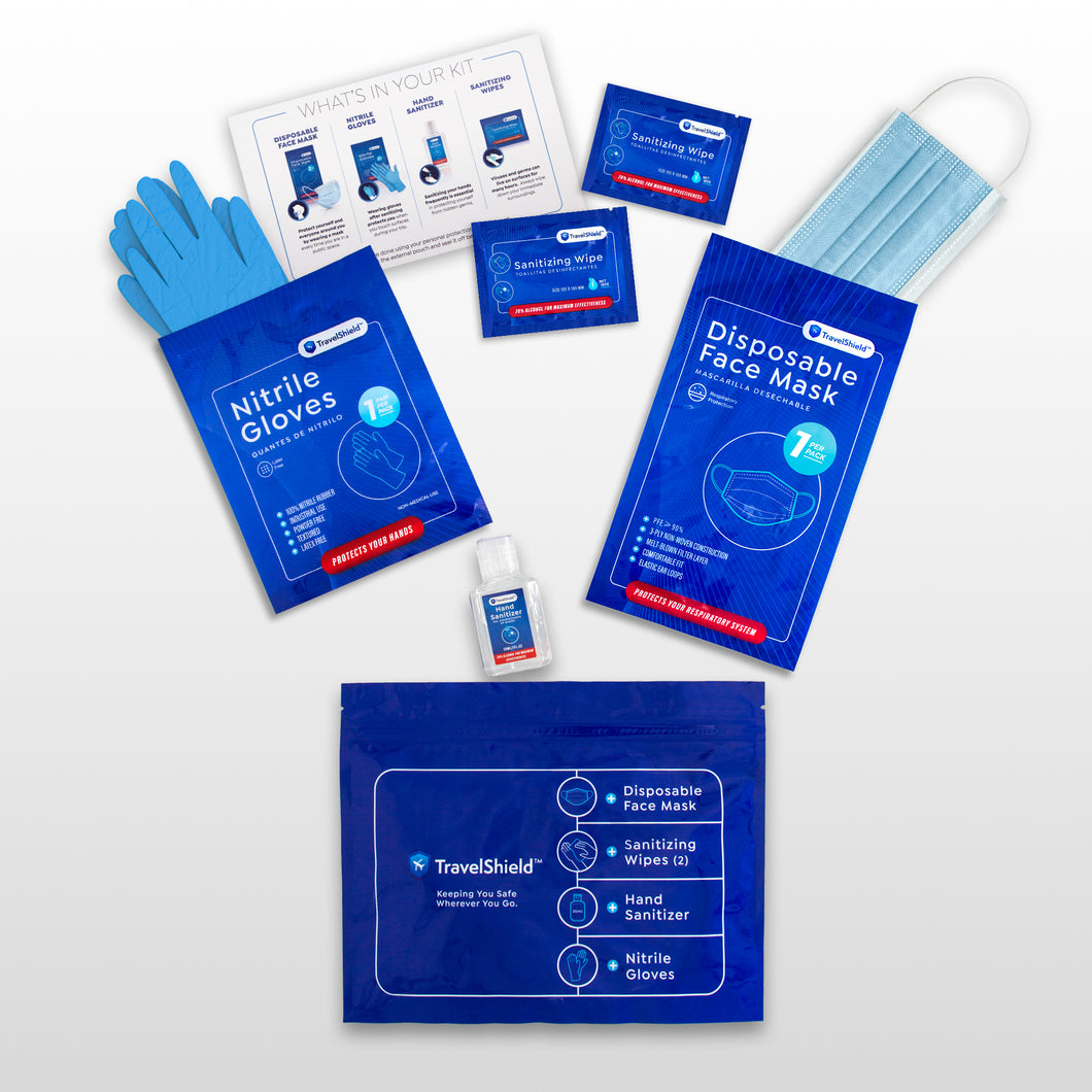 Personal Protection Travel Kit - Pack of 6 Kits