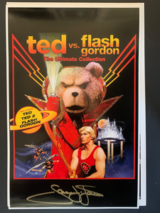 Flash Gordon Sam Jones signed 11x17 poster
