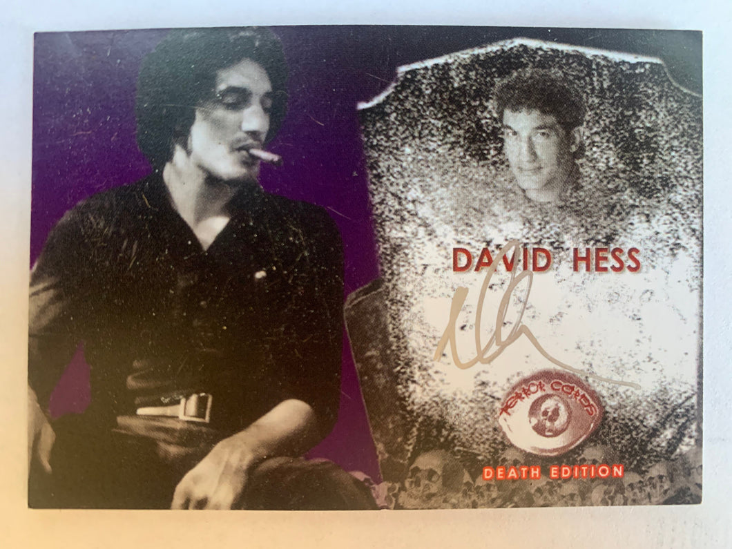 Last House On The Left DAVID HESS signed trading card