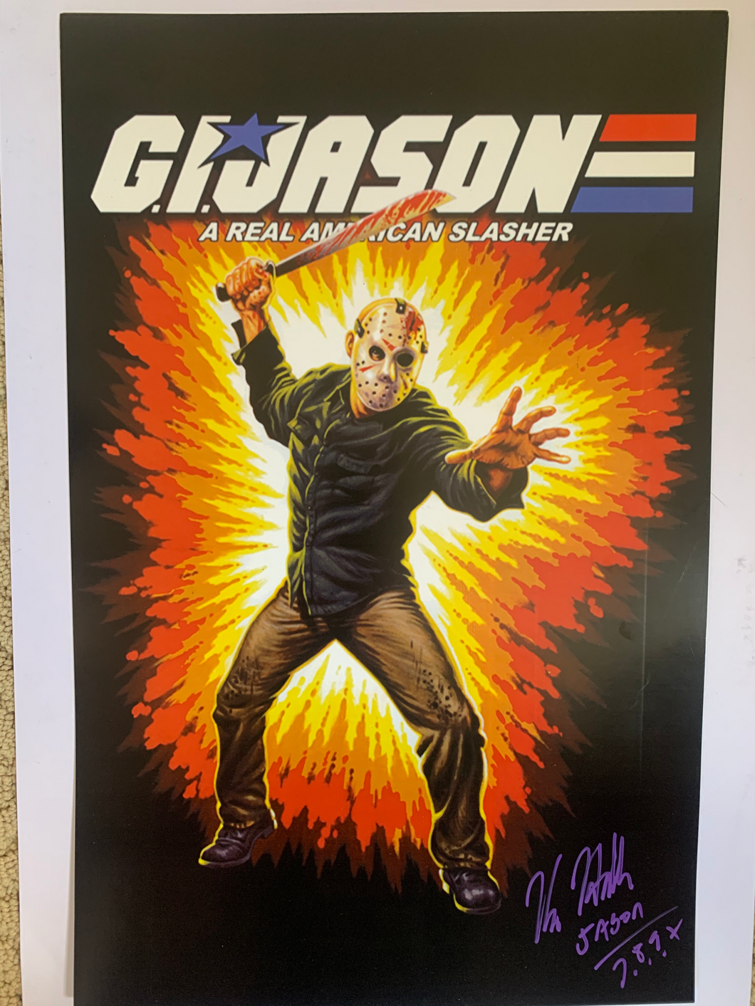 Friday The 13th Kane Hodder signed