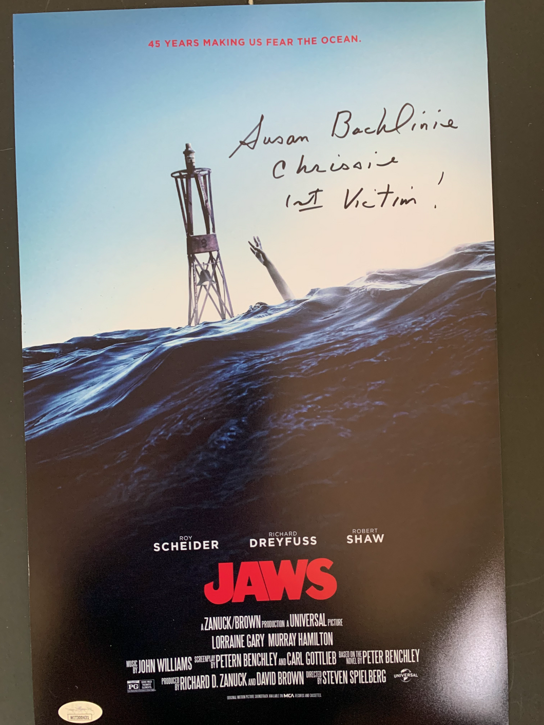 Jaws Susan Backlinie signed 11x17 photo JSA COA