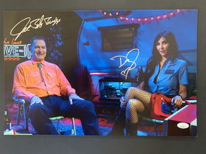 Joe Bob Briggs and Darcy signed 11x17 poster  JSA COA