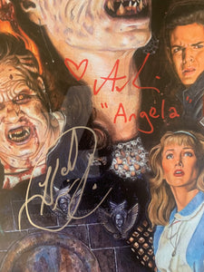 Night Of The Demons Amelia Kinkade Hal Havens signed 11x17 poster JSA COA