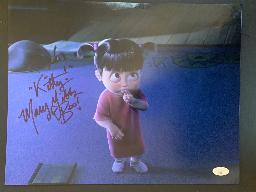 Monsters Inc Mary Gibbs signed Boo 11x14 with JSA COA