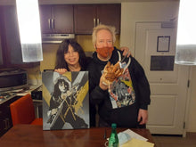 Load image into Gallery viewer, Vinnie Vincent signed 16x20 canvas painting Kiss