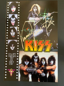 Vinnie Vincent signed 11x17 poster KISS