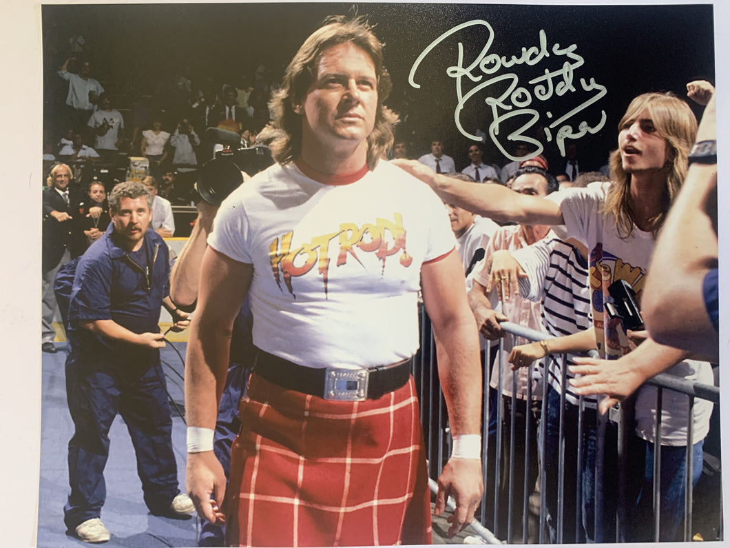 Roddy Piper Hall Of Fame signed 8x10 WWE JSA COA
