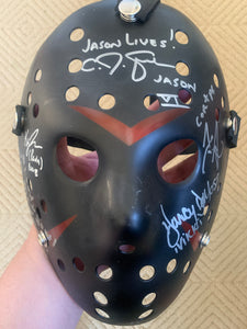 Friday The 13th Part 6 Jason lives mask signed by 5