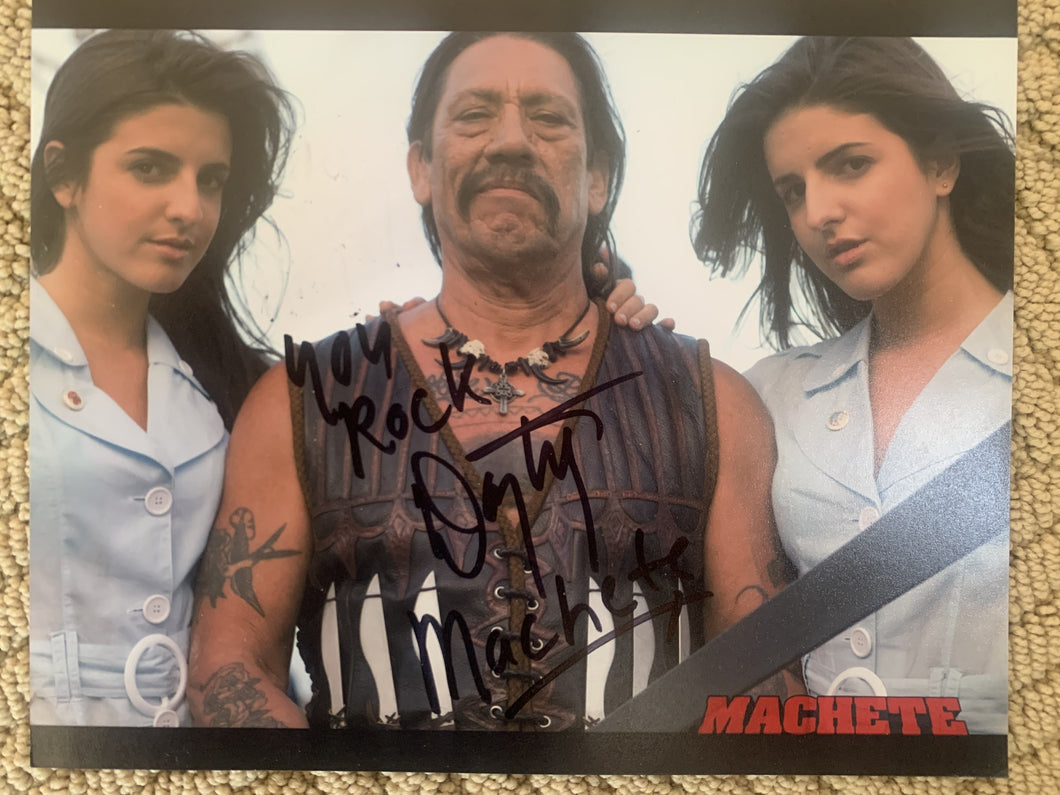Danny Trejo signed Machete 8x10 photo