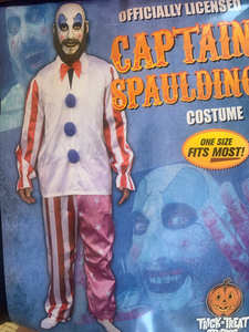 "Signed Sid Haig ""Captain Spaulding"" clownsuit by Trick or Treat studios."