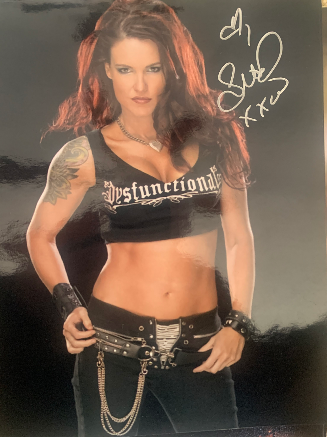 Lita signed WWE 8x10 photo Amy Dumas