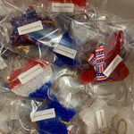 LARGE Leather & Lace Scent Custom Red, White & Blue Car Freshies-Lola Monroe Boutique