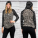 """""""Crystal"""" Light Weight Hoodie with Stripe Accent (Animal Print)"""