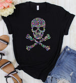 Pre-Sale TEE or HOODIE Colorful Skull-Lola Monroe Boutique