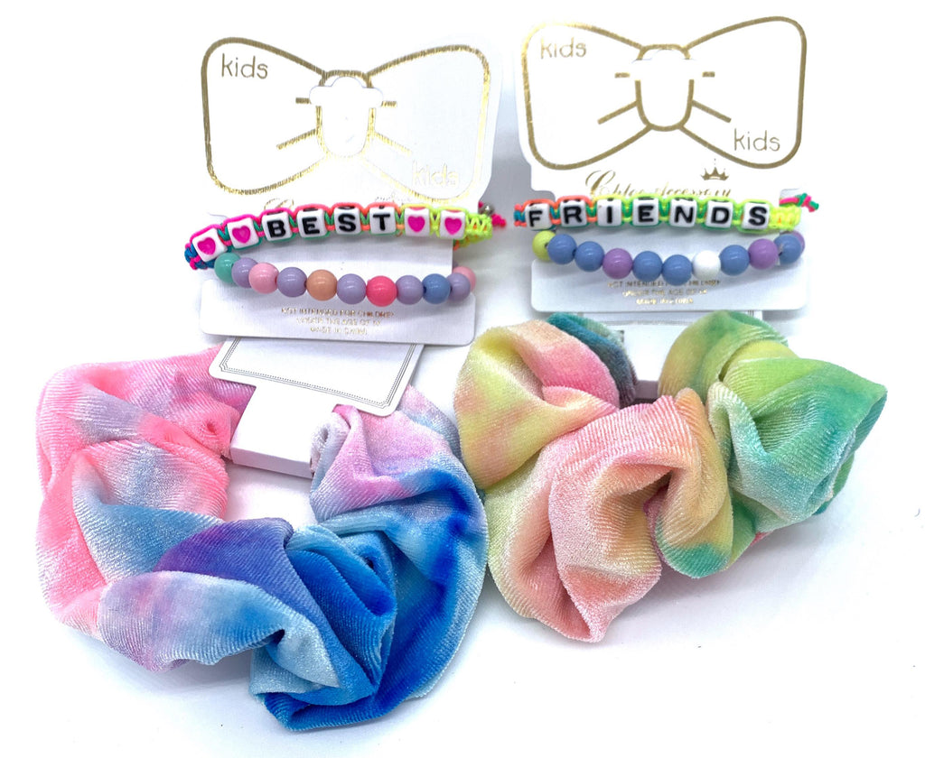 """Best Friends"" Friendship Bracelets & Scrunchies-Lola Monroe Boutique"