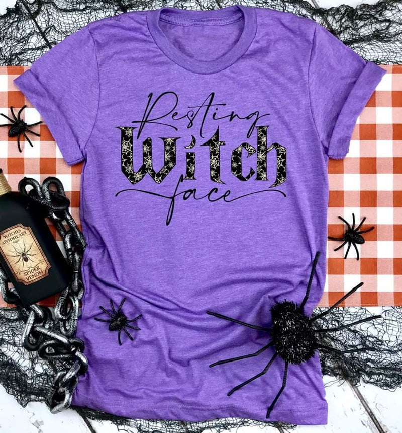 Pre-Sale Resting Witch Face Tee-Lola Monroe Boutique