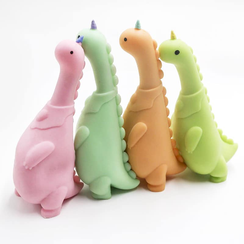 Squishy Sand Dino (Multiple Colors)-Lola Monroe Boutique