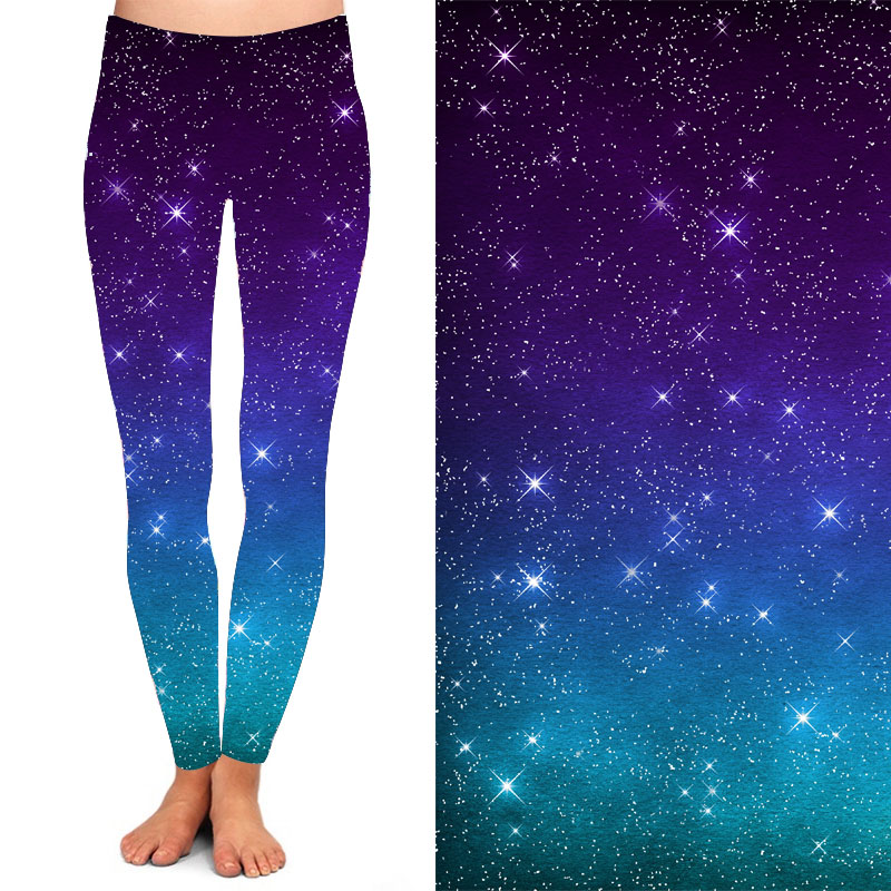 Galaxy Leggings (Purple)-Lola Monroe Boutique