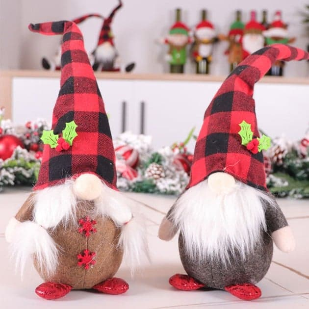 Plaid Hat Gnomes (Multiple Colors)-Lola Monroe Boutique