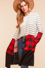 """Professor Plaid"" Cardigan-Lola Monroe Boutique"