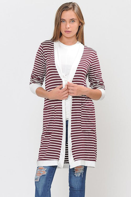 Stripes Done Right Cardigan-Lola Monroe Boutique