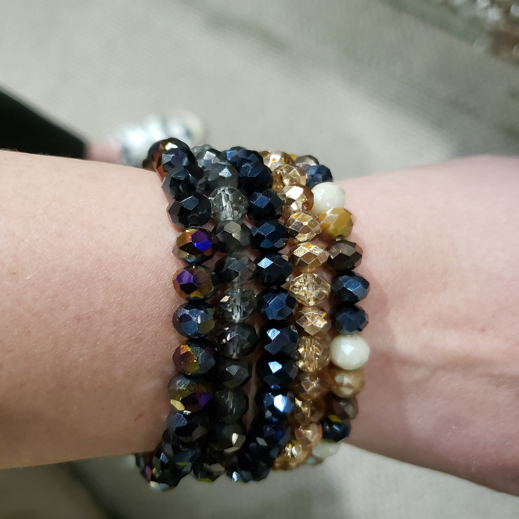 Set of 5 Beaded Bracelets-Lola Monroe Boutique