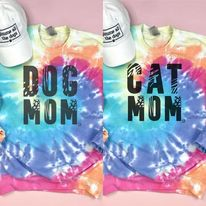 Pre-Sale Tie Dye Dog Mom & Cat Mom Sweatshirt-Lola Monroe Boutique