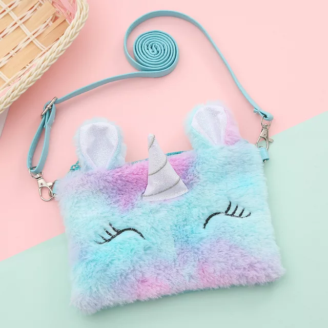 Unicorn Sherpa Purse-Lola Monroe Boutique