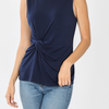 Slinky Sassy KNOT-FRONT SLEEVELESS TOP-Lola Monroe Boutique