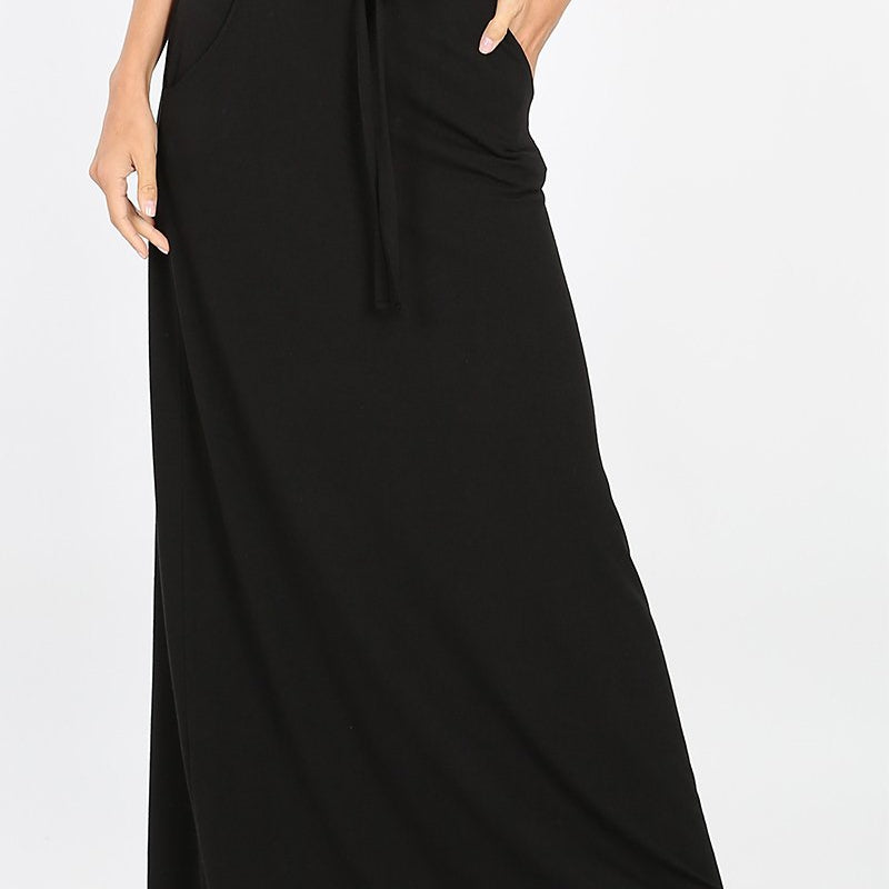 Sassy Maxi Skirt with Pockets-Lola Monroe Boutique