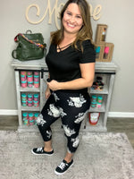 Black & White Floral Capris-Lola Monroe Boutique