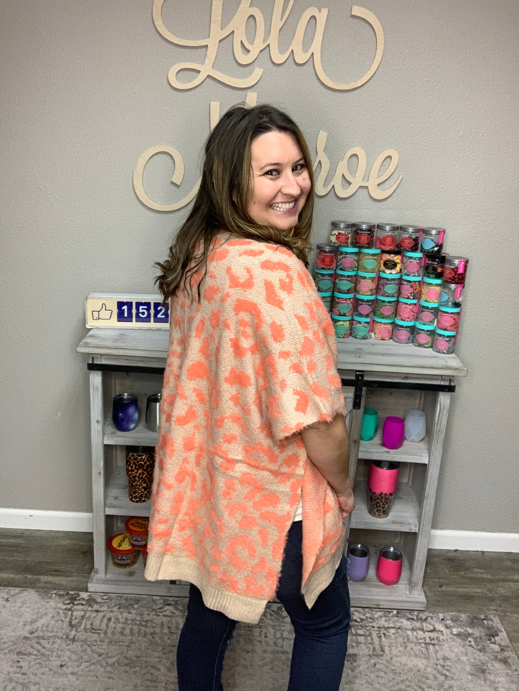 """Candied Cape"" Animal Print Poncho-Lola Monroe Boutique"