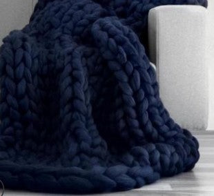 Queen Size Chunky Knitted Blanket-Lola Monroe Boutique