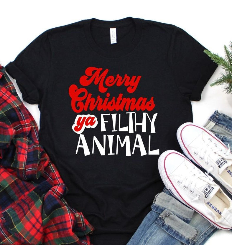 Pre-Sale Ya Filthy Animal Graphic Tee-Lola Monroe Boutique