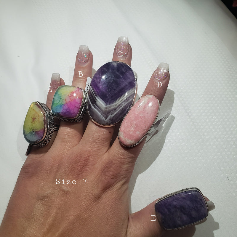 Turkish Rings 7 Shown in Dallas-Lola Monroe Boutique