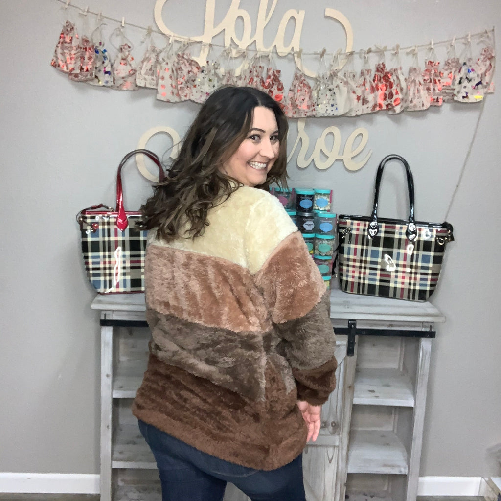 """Meet You at the Lodge"" Faux Fur Sweater (2 Color Ways)-Lola Monroe Boutique"