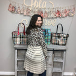Animal & Stripe Colorblock Cardigan-Lola Monroe Boutique