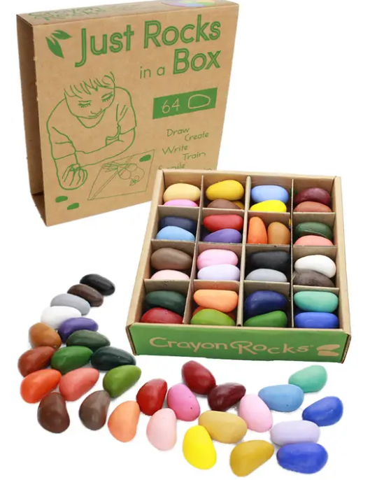 Just Rock in A Box 64 Crayon Rocks-Lola Monroe Boutique