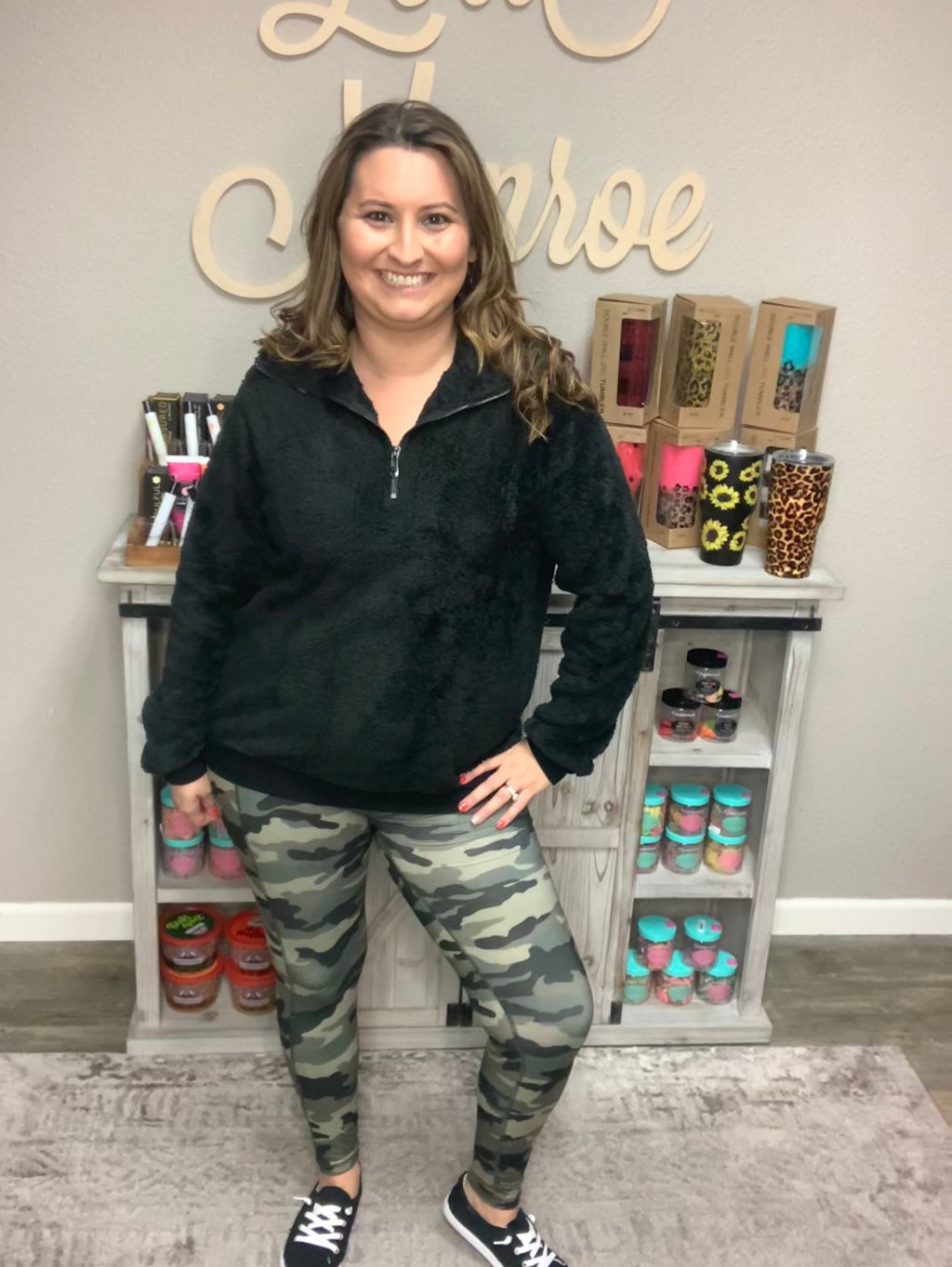 """Gearing Up"" Camo Leggings with Pockets-Lola Monroe Boutique"