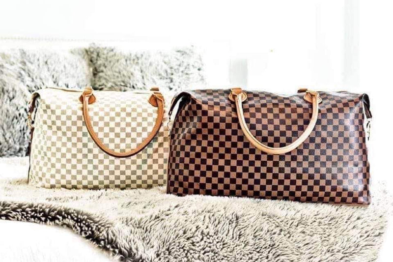 Pre-sale Checkered Weekender Bags-Lola Monroe Boutique