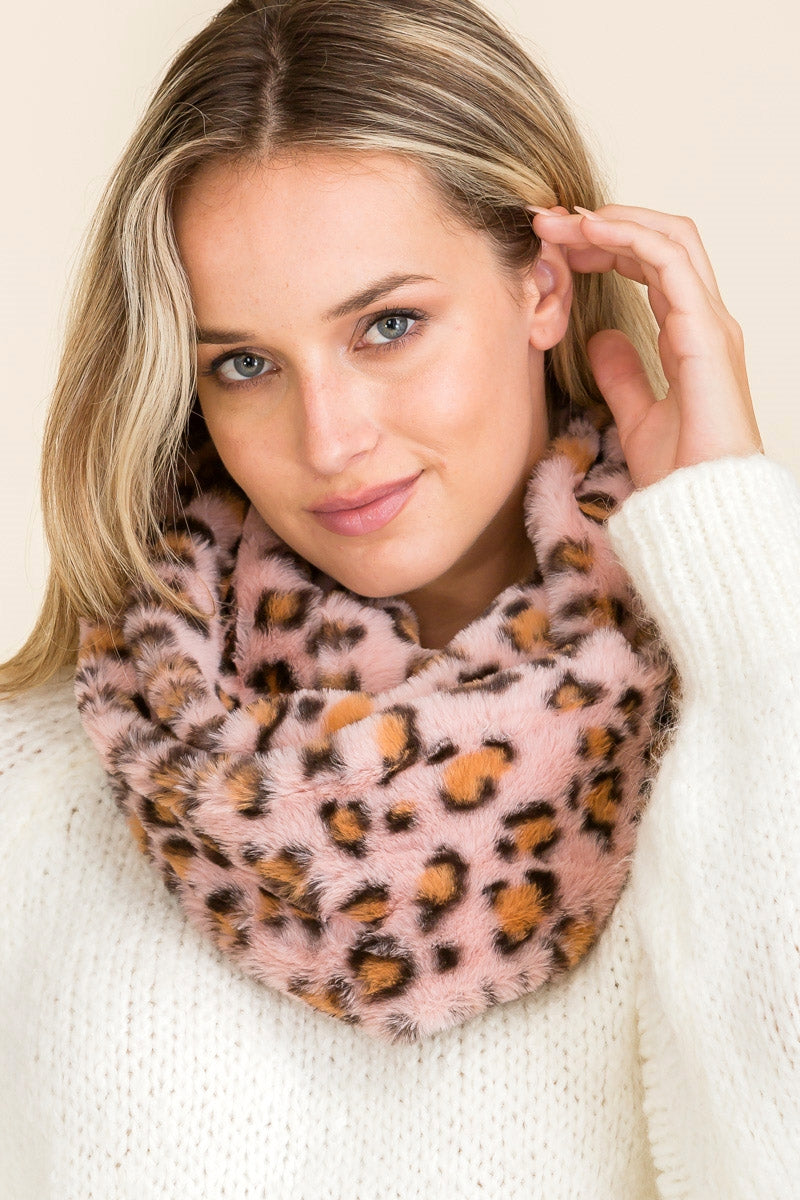 Furry Leopard Infinity Scarves (Multiple Colors)-Lola Monroe Boutique